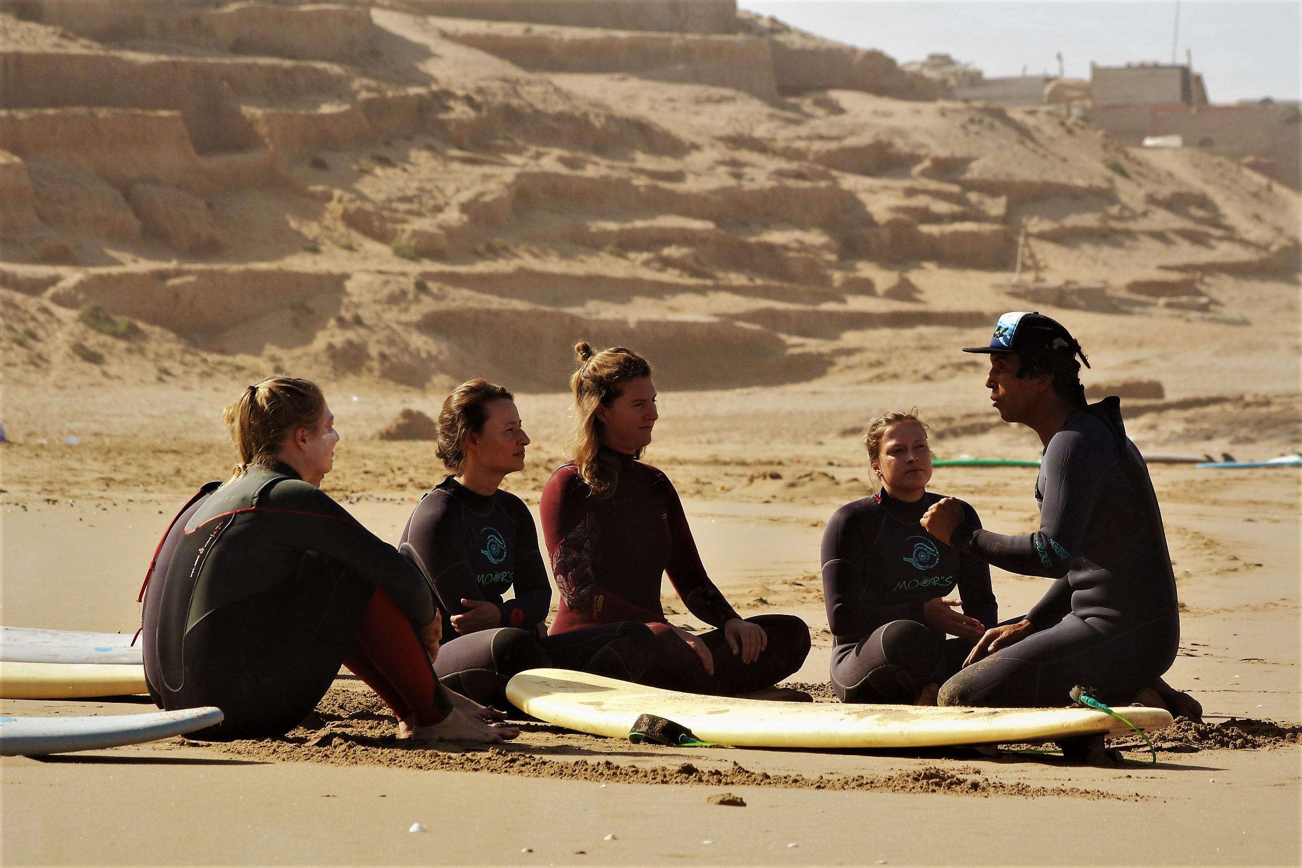 Surfen lernen Tagesablauf